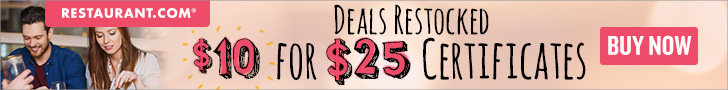 Get $25 Gift Certificates for just $10. Click Here
