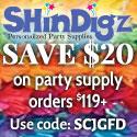Save $10 at Shindigz!