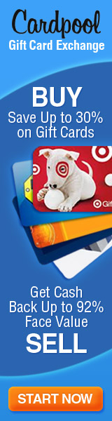 Get up to 92% back from CardPool.com
