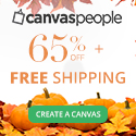 65% off all Canvases and FREE SHIPPING - Summer Sale!