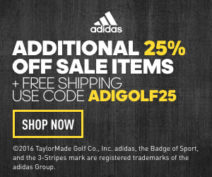 Additional 25% off sale items plus free shipping! Use code ADIGOLF25. Plus Free Shipping!