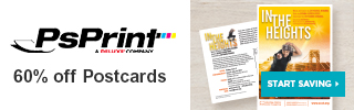 Save 60% off postcards at PsPrint!