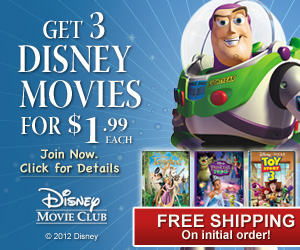 Get 3 Disney Movies for $1.99 Each, Free Shipping!