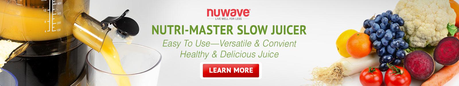 NuWave Nutri-Master Slow Juicer