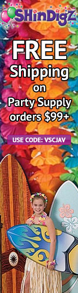 FREE shipping on Shindigz Luau Party orders $85+.