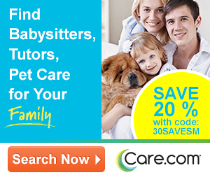 Save 20% - Find Babysitters, Tutors, Pet Care for Your Family