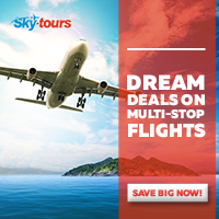 Dream deals on multi-stop flights with Skytours.