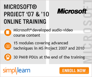 microsoft project 2007 & 2010 online course