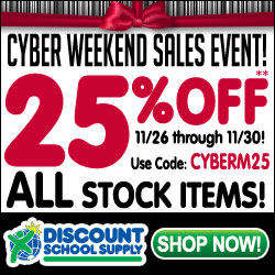 CYBER WEEKEND SALES EVENT!Save 25% Off ALL STOCK ITEMS & Get Free Shipping On Stock Orders Over $49