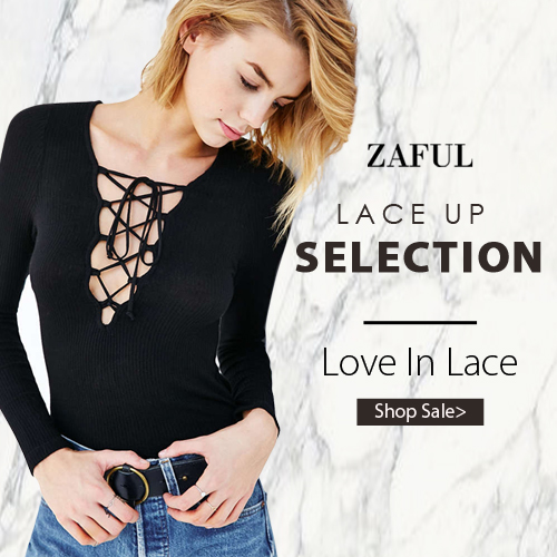 Are you a lace lover? Welcome to Zaful to get all kinds of lace up selection, you can enjoy up to 70