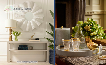 Shop exquisite home decor, furniture, tableware and gifts at www.belleandjune.com
