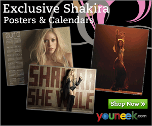 Shakira posters, greeting cards, and calendars