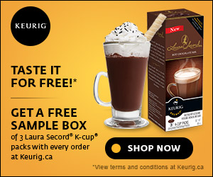 Get 3 FREE Laura Secord K-Cup packs with every order at Keurig.ca. Shop Now!