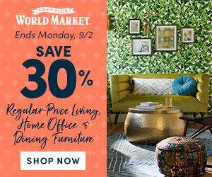 30% off all Reg-Priced, Living, Dining & Home Office Furniture