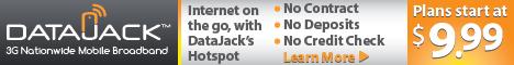 Order DataJack Mobile 3G Broadband starting at $9.95 a month!