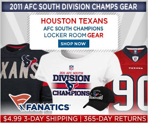Shop for Texans 2011 Division Champions Gear