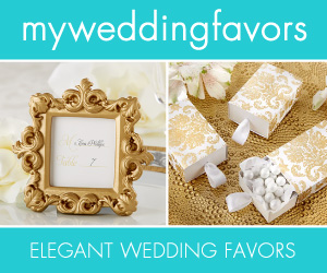 wedding favors banner