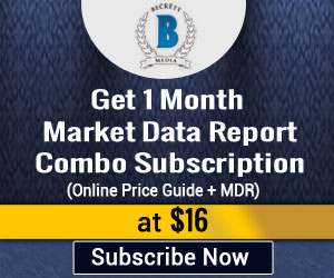Get 1 Month Market Data Report Combo Subscription (Online Price Guide +MDR) for $16