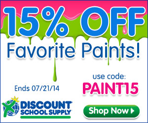 GREAT BIG PAINT SALE AT DISCOUNT SCHOOL SUPPLY