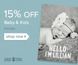 15% off Kids & Baby Category sale $15 min with code KIDSBABY15 all month long valid 4/1-4/30