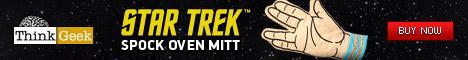 Star Trek Spock Oven Mitt