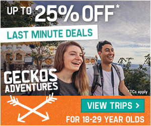 15% Off Asia Trips w/ Geckos Adventures!