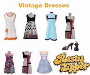 Vintage Dresses @ RustyZipper.Com Vintage Clothing