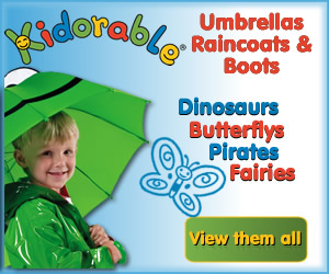 Kidorable Raincoats and umbrellas