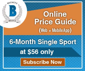 Save 15% on 6 Months Single Sports Online Price Guide (Web + iOS) Subscription .Offer Price: $56