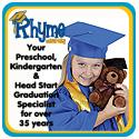 Preschool and Kindergarten Graduation Caps, Gowns, and Tassels www.rhymeuniversity.com