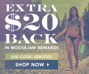 Get an extra $20 Back in Moosejaw Rewards with any full priced order over $99 using Code 20BUCKS