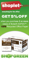 Shoplet Save 5% On Purchase Of 100% Recycled Paper