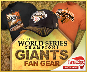 Shop Giants 2010 World Series Champion Gear