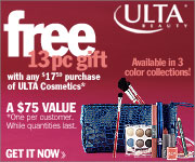Get a FREE 13 pc. Gift with any $17 purchase of Ul