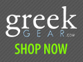 Greek merchandise for alumni, family, and pets.