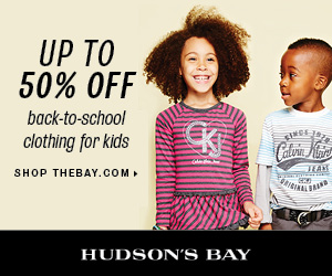 (8/22-9/14) Up to 50% off back-to-school clothing for kids at TheBay.com