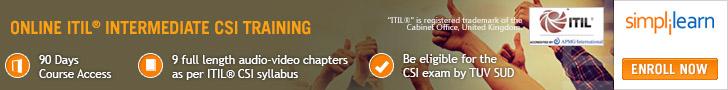 ITIL Intermediate CSI Training Online Course