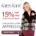 15% Off First Purchase at KarenKane.com
