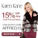 Save 15% Off Regular Priced Items