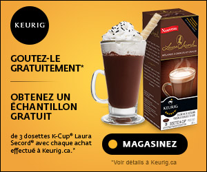 Obtenez 3 dosettes K-Cup Laura Secord GRATUITES avec chaque achat effectué à Keurig.ca.