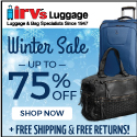 Irv's Luggage Winter Clearance Sale!