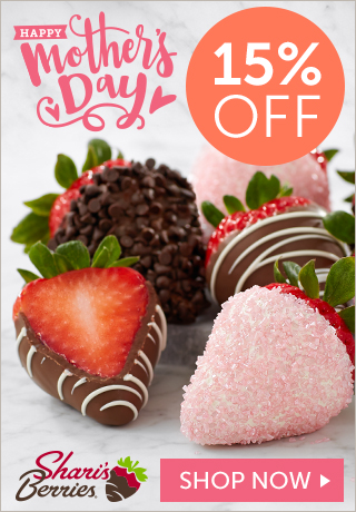 15% off Mother's Day Strawberries & Sweet Treats (min $29) - 320 x 460