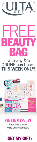 Choose Your Beauty Bag!  Get a FREE Bag Filled wit