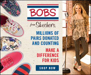 SKECHERS donates new shoes to children in need when you purchase BOBS for men, women and kids. Shop