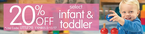 Infant & Toddler Sale - Save 20% Off Select Items & Get Free Shipping On Orders Over $99!