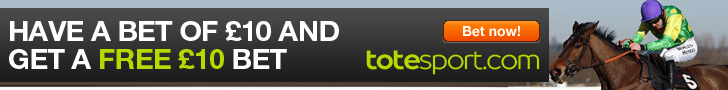 Bet now Bet now with totesport - £10 in free bets!