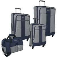 0% Off Nautica Beach Island 4 Piece Spinner Luggage Set Now Only $279.95