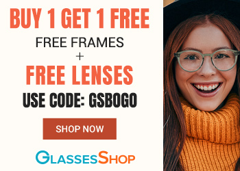 Buy 1 Get 1 Free (Free Frames + Free Lenses with Code GSBOGO at GlassesShop.com. Offer expires 10/31