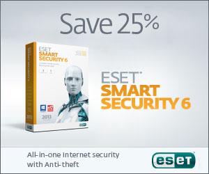ESET Smart Security v5 - Save 25% Today