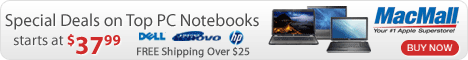 Special Deals on Top PC Notebooks at MacMall.com